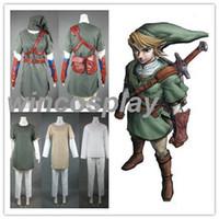 adult link zelda - New Arrive The Legend of Zelda Zelda Link Cosplay Costume for Adults and kids