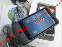 Wholesale new arrival Android A5000 WiFi TV GPS FM Dual SIM Dual Standby Unlocked Quadband Smartphone