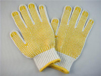 cotton working glove - Gloves Work Gloves Prevent Sliding Back of Cotton Material Plastic palm particles Labor supplies Protective gloves