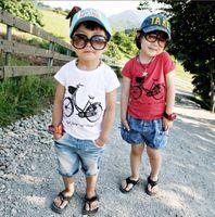 Wholesale Kids T shirts boys t shirts baby tops jumpers bike frock blouse tee shirts garments tshirts SH148