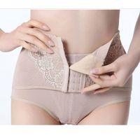 Wholesale Freeshipping Women High Waist Tummy Control Body Shaper Briefs Slimming Waist Cincher Pants Underwear Knickers Training Corsets