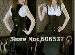 Wholesale Sexy Corset Sexy Lingerie Full Steel Boned Corset Black Satin