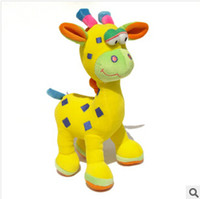 Cheap Wholesale-High quality 26cm Voice Plush deer Baby Toys Baby Rattles & Mobiles baby bed rattle