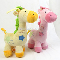 Cheap Wholesale-soft Giraffe music bed bell long (28cm) pull baby toys hanging bell Clockwork Toys boy girl infant rattles Animal deer