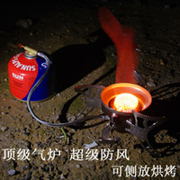 big gas stove - Windproof Big Power Split Type Outdoor Camping Picnic Cooker Burner Gas Stove Auto ignition Infrared Heating Roasting BRS