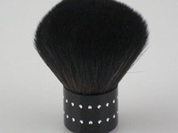 Wholesale Blush Brush Supply black nylon hair brushes face painting copper mushroom type handle D