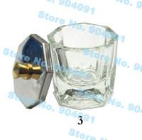 Cheap Wholesale-Free Shipping Crystal Glass Dappen Dish Lid Bowl Cup Crystal Glass Dish Nail Art Tools Acrylic Nail Art Equipment Mini Bowl Cups
