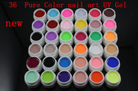 colored rhinestones - new Pure Color color UV Gel colored vu gel For Nail Art uv gel nail polish sets