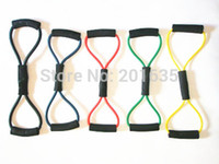 Wholesale Double layer Shape Latex Resistance Bands Set Tubes LBS Fitness Workout Yoga Gym Top