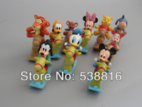 wooden horse - sets MICKEY Minnie figures set cm Minnie Mouse Donald Duck withe the wooden horse Cartoon Childre s toy