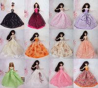 Wholesale Handmade Doll Dresses Gown Dress Clothing For Barbie Doll Different Colors Styles