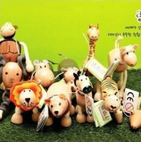 Wholesale ANAMALZ Moveable Wooden Zoo Animals Dolls Maple Textiles Toys For Kids Dolls amp Stuffed Toys Dolls amp Accessories