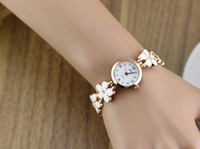 Wholesale Watches Girl Fashion New Trendy Clover Stainless Watch Quartz Analog Cheap Gift Watch XWT007