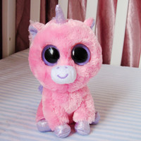 Wholesale TY big eye plush toys cm stuffed purple unicorn doll for kids Beanie Boos