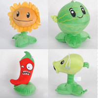 bear sunflower - Fee Shipping promotion Plants vs zombies plush toys watermelon chili sunflower pea shooter piece