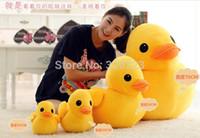 Cheap Wholesale-Length 30 cm Hong Kong Rubber Duck Plush Toys Gifts for girls or kids plush pillow Free shipping