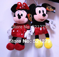 mickey mouse plush toy - pair cm Mickey mouse and Minnie Mouse plush toys doll Mickey amp Minnie mouse red color
