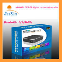 Cheap Wholesale-Free shipping new arrival HD MINI TV BOX digital video broadcasting PVR terrestrial receiver DVBT2 TV Receiver