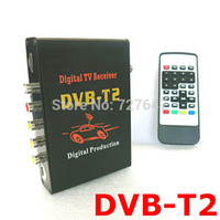 Cheap Wholesale-2015 new Car TV Tuners DVB T2 H.264 CVBS HDMI MPEG4 Mobile Digital TV Box External USB DVB-T2 Car TV Receiver