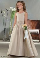 Strappy wedding dresses 2011 - New Style Flower Gril Dresses for wedding Junior sleeveless A Line Custom Make HT0022