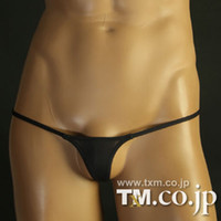 Cheap Wholesale-New arrival tm male ultra-low-waisted tight-fitting sexy thong mini gay men underwear g string and thongs sex men's underwear