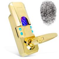 Wholesale Gold Access Code Security Fingerprint Door Lock Right Hand Version
