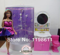 best bathroom furniture - Best Girls gifts DIY accessories Bathroom Washing Room Doll Furniture doll accessories for barbie doll