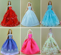 doll clothes hangers - Dress Shoes Hangers Handmade Gown Dress Clothing For Barbie Doll best gift for girl