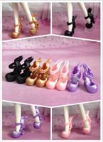 achat en gros de poupée démon-Gros-200Pairs / lot Nouvelle arrivée Démon mode monstre Doll Shoes Dragon chinois conception de haut-talon 1 / 6Dolls Bottines femme Chaussures 4Colors