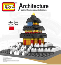 Wholesale LOZ famous architecture building blocks sets eductional children toys Temple of Heaven Taipei Windmill