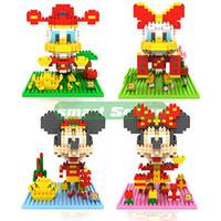 big block heads - Mini Cute LOZ Diamond Chinese New Year Big Head Mickey Minny Nano Building Blocks Educational DIY Bricks Model toy gift