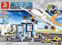 airport scale model - Sluban Building Block Construction Toys International Airport Scale Models Children s Toy Child Compatible