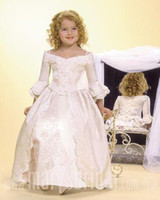wedding dresses 2011 - 2011 New Style Ankle Lenght Applique Lace Princess Flower Girl Dresses for Wedding Junior HT0224