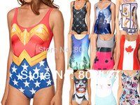alice bikini - New Women CAPE SUIT DARTH VADER WORLD FLAGS ALICE AND CATERPILLAR Bodysuit Bikini Casual Wetsuit Piece SWIMSUIT Swimwear