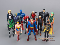 Wholesale pack DC Action Figure Toys Justice League Superman Wonder Woman The Atom Black Canary cm PVC Action Figure Toy