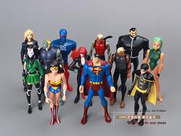 Wholesale pack DC Action Figure Toys Justice League Superman Wonder Woman The Atom Black Canary cm PVC Action Figure Toy