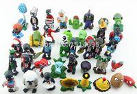 achat en gros de jouets en gros zombie-Vente en gros-40pcs/set plantes vs Zombies PVC figurines 2.5-6,5 cm PVZ Collection Figures jouets cadeaux planter + zombies PZ015