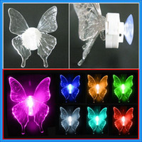 Wholesale 7 COLORS CHANGING HOLIDAY LED BUTTERFLY LIGHT