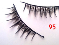 New 95# black False Eyelashes Fake Eye lashes Eyelash Extens...