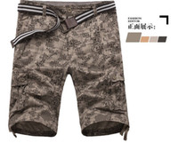 mens training pants - summer Fashion men Military Training camo cargos shorts Outdoor Camouflage cargo mens short pants male Bermuda Shorts