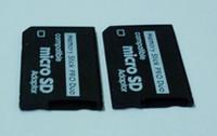 Gros-Livraison gratuite 50pcs / lot Micro SD SDHC TF Memory Stick MS Pro Duo adaptateur PSP