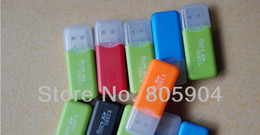 Wholesale USB2 Mini Cheap Card Reader TF Card Reader Adapter Memory Card Reader Driver Free Compatible UP to GB