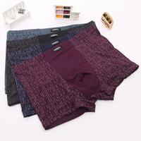 Wholesale Nice quality bamboo fiber Sexy mens boxers Mens boxer shorts Men s underwear Size XL XL