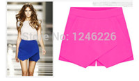 Wholesale SUMMER GIRL HOT WOMEN SKORTS ASYMMETRIC TIERED CULOTTES SHORTS WITH INVISIBLE ZIPPER