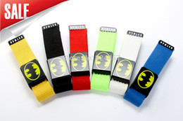 Wholesale-2015 New Men women BATMAN canvas belts buckle fashion leisure Automatic Belts Low price Drop shipping