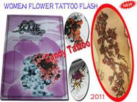 Cheap WOMEN FLOWER TATTOO FLASH A3 Tattoo book 70pages tattoo design Flower tattoo magazine