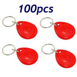 100pcs RFID Proximity ID Token Tag Key Ring 125Khz Red New Free Shipping