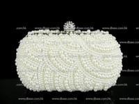 beaded purse patterns - Ivory PEARL Beaded Hand made in waved pattern Wedding Bridal Party clutch bag Evening purse handbag IN FREE SHIPMENT