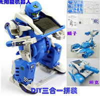 Wholesale multifunctional T3 Transforming Solar Robo DIY t Kit in educational toy
