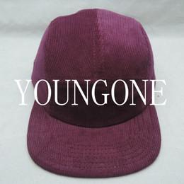 Wholesale Blank burgundy corduroy blank panel camper hat and caps custom headwear manufacturer snapback strapback streetwear